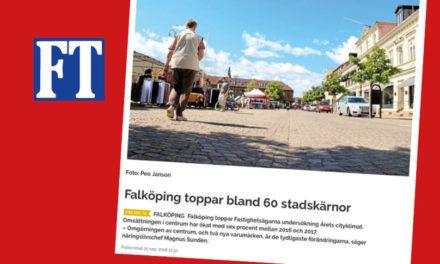 Falköping toppar bland 60 stadskärnor!